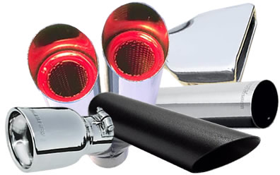 Exhaust Tips: Dual, Black, Chrome & More at Summit Racing
