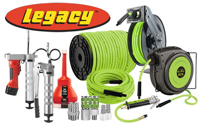 Legacy Manufacturing Hose Reels, Air Tools & More