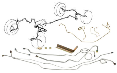 Brake Lines Sets on toyota pickup build
