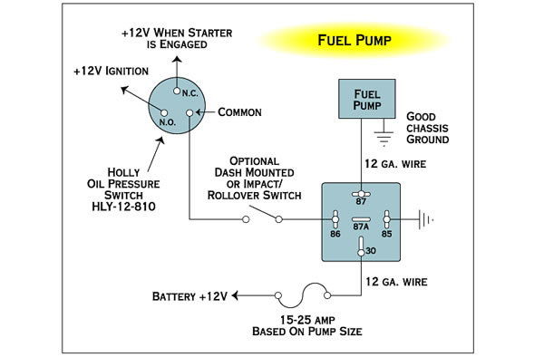 Electrical Wiring Fuel Pump With Relay And Toggle The