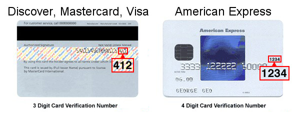 how many numbers are on a credit card