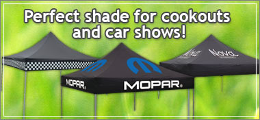 Perfect shade for cookouts and car shows!