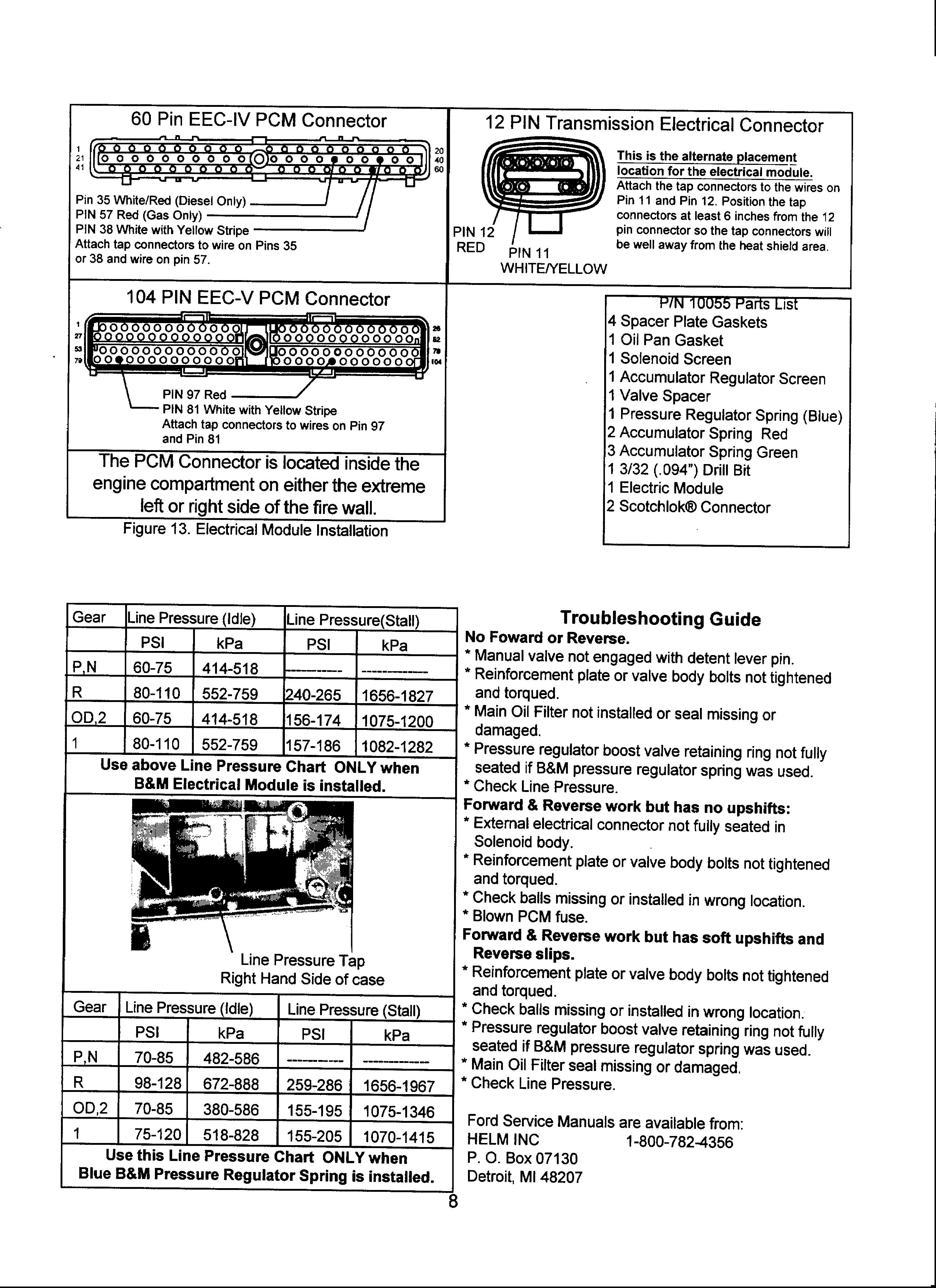 1996 Transmission Epc Wire Ford Bronco Forum Eec V Wiring Diagram Someone Posted A Of The Connection Bm Module I May Connect It There