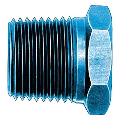Earls 991209ERL Blue Anodized Aluminum Fuel Fitting Adapter Earl/'s Plumbing
