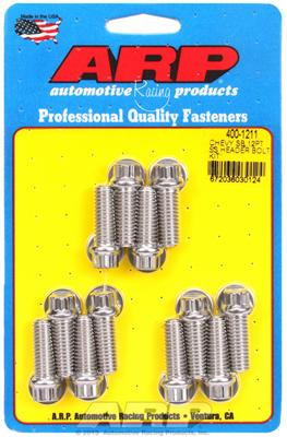 "16 Piece 3//8/"" x 1/"" Header Bolts Exhaust Fasteners Stainless Steel 6 Point Head"