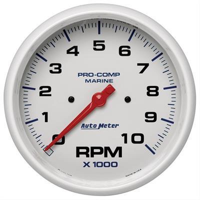 Tachometer Marine White 10K RPM Auto Meter AutoMeter 200801 Gauge 5