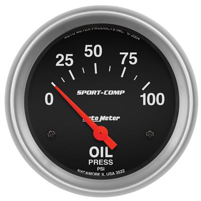 Auto Meter C//F 2-5//8in Fuel Pressure Gauge 0-100PSI