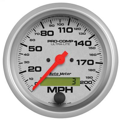 AutoMeter 1487 Designer Black Electric Programmable Speedometer