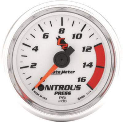 Auto Meter 7174 C2 Full Sweep Electric Nitrous Pressure Gauge