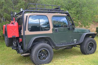 Charming Body Armor 4x4 Roof Rack Base Kits TJ 6125   Free Shipping On Orders Over  $99 At Summit Racing