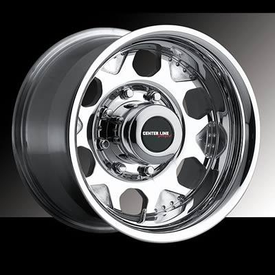 "Center Line Wheels Tracker II Polished Wheel 16""x8"" 7x150mm Pair"