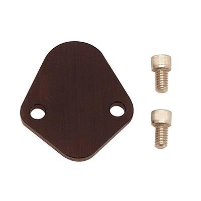Canton Fuel Pump Block-Off Plate 21-964; Black Aluminum for Oldsmobile//Cadilllac