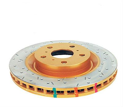 DBA DBA650X Street Series Gold Cross-Drilled and Slotted Front Vented Disc Brake Rotor