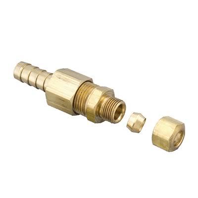 """Derale Transmission Line Fittings Brass 3 8"""" Hose Barb 5 16"""" Compression Ea"""