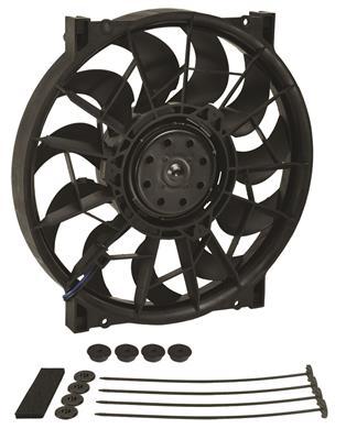 "Derale 16919 High Output 17/"" Electric Puller Fan Only Black Steel Shroud Kit"