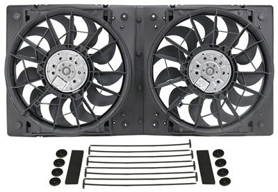 Derale Performance 16838 Gray//Black High Output Dual Radiator Fan