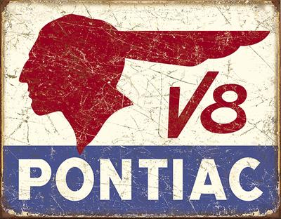 """PONTIAC SALES SERVICE  9/"""" x 12/"""" Sign"""
