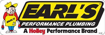Yellow//Black//White Each Earl/'s Plumbing Logo Earl/'s Performance 36-282 Decal