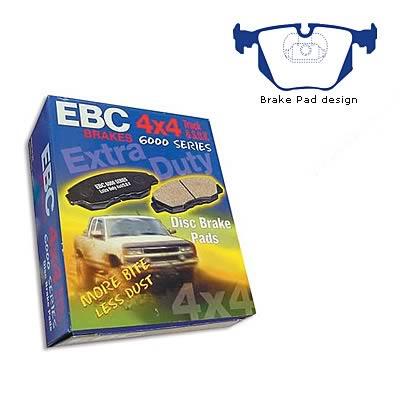 EBC Brakes DP61118 6000 Series Greenstuff Truck and SUV Brake Pad