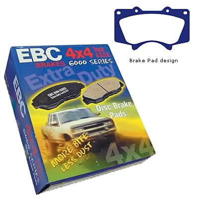 EBC Brakes DP61698 6000 Series Greenstuff Truck and SUV Brake Pad