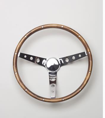 Classic Wood Steering Wheel 15 Dia 3 Spoke 4 125 Dish 201