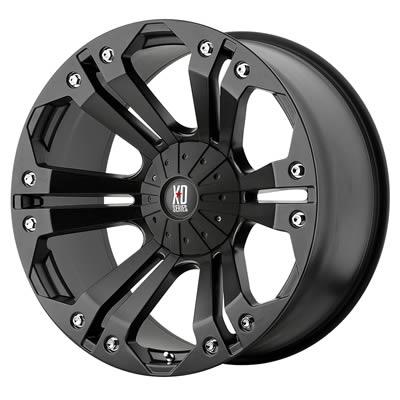 """KMC XD778 Monster Matte Black Wheel 18""""x9"""" 6x5 5"""" Set of 2 77889067718 2"""