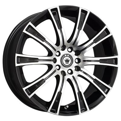 Konig Crown Gloss Black Wheels With Machined Face Cw67t54405