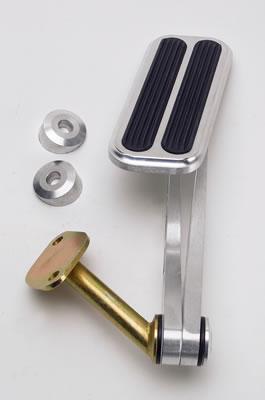 Lokar BAG-6074 Billet Aluminum Throttle Pedal with Rubber