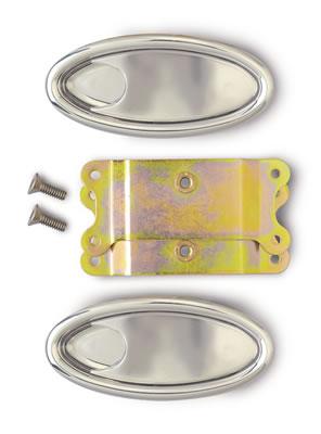 Pair Lokar IDH-2009 Polished Billet Aluminum Door Handle