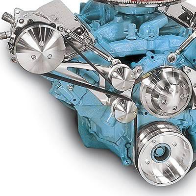 March Performance Pontiac V-8 Serpentine Conversion Kits 13100