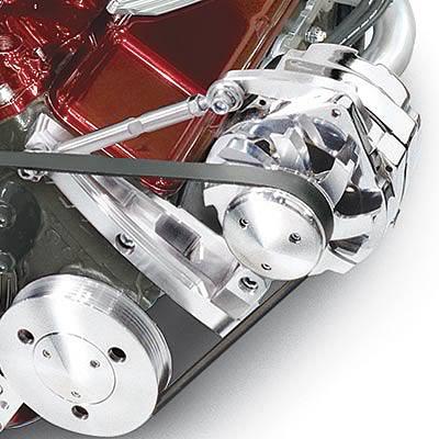 SWP RPC Chrome Aluminum SB Chevy Outward Mount Alternator Bracket