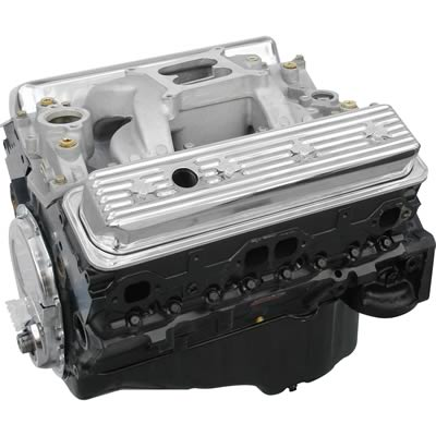 BluePrint Engines GM 383 C I D  420 HP Vortec Base Stroker Long Block Crate  Engines with Roller Cam BP3833CT1