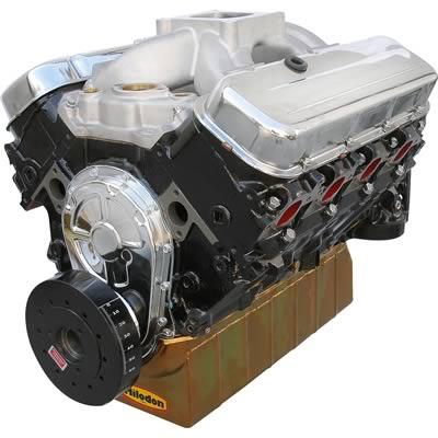 BluePrint Engines Marine GM 496 C I D  460 HP Base Long Block Engines  w/Cast Crankshaft MBP4960CT