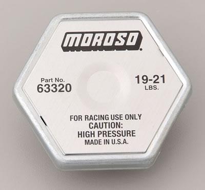 Moroso 63320 Radiator Cap 19-21 lbs Qty Of 1 Fits Standard Radiator Fill Necks