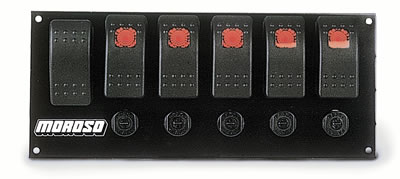 Rocker Switch Panels p 131795 together with Cat 6 Way Blade Wiring Diagram further Builder additionally Showthread further Stratos Boat Toggle Switch Panel Black Grey Marine EBay. on moroso switch panel wiring diagram