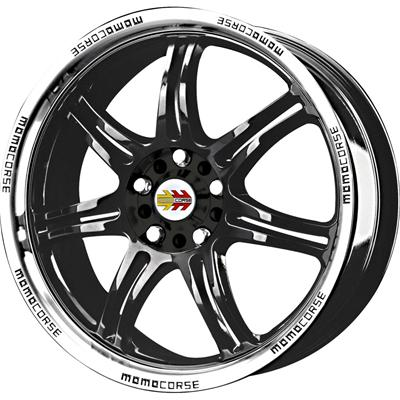 Momo Rpm Gloss Black Wheels With Machined Lip Rp75850038b
