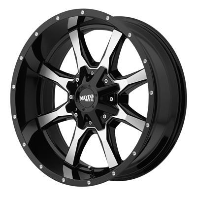 Moto Metal Series Mo970 Gloss Black With Machined Face Wheels