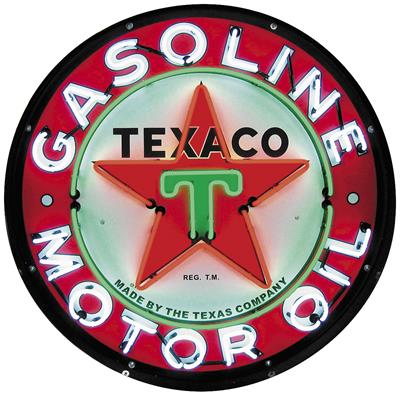 Texaco Motor Oil 36 in  Diameter Neon Sign 9TXOIL