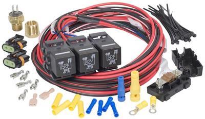 painless performance wiring diagram water pump painless performance dual activation electric fan relay kits 30116  activation electric fan relay kits 30116