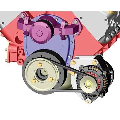 Powermaster Low Mount Alternator Bracket SBC