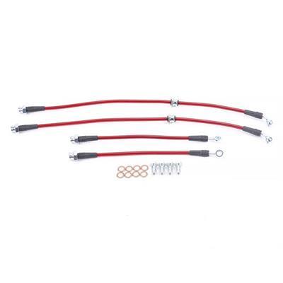 Transparent Hose /& Stainless Banjos Pro Braking PBR1182-CLR-SIL Rear Braided Brake Line