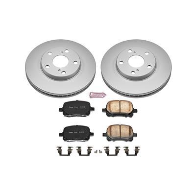Fit Mercedes-Benz E300 C280 SLK230 Front Rear Blank Brake Rotors+Ceramic Pads