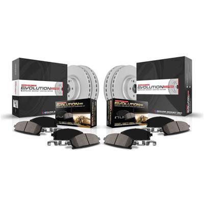 Power Stop KOE6283 Front /& Rear Stock Replacement Brake Kit