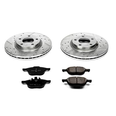 Power Stop K129 Rear Z23 Evolution Brake Kit with Drilled//Slotted Rotors and Ceramic Brake Pads