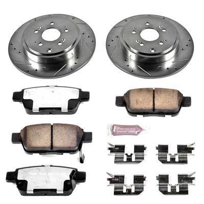 Power Stop K2431 Rear Z23 Evolution Brake Kit with Drilled//Slotted Rotors and Ceramic Brake Pads