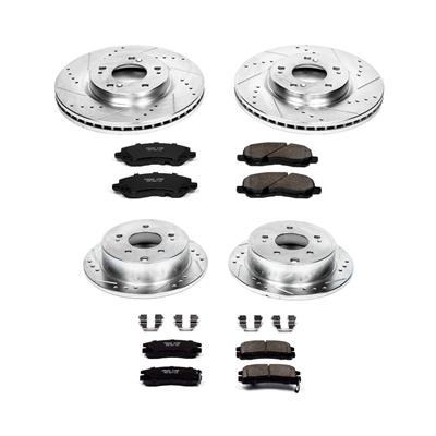 Power Stop K094 Front Brake Kit with Drilled//Slotted Brake Rotors and Z23 Evolution Ceramic Brake Pads