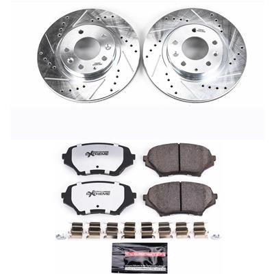 Power Stop K4659 Front Brake Kit with Drilled//Slotted Brake Rotors and Z23 Evolution Ceramic Brake Pads
