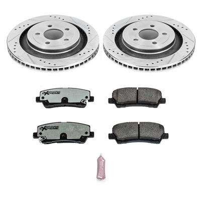 Pads with Drilled And Slotted Rotors Power Stop K6805-26 Z26 Street Warrior Extreme Performance Brake Kit