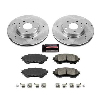 Power Stop K5926 Front Brake Kit with Drilled//Slotted Brake Rotors and Z23 Evolution Ceramic Brake Pads