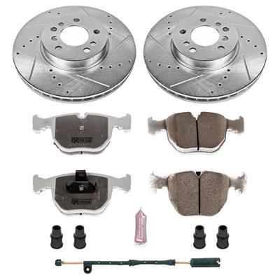 Power Stop K5720 Rear Z23 Evolution Brake Kit with Drilled//Slotted Rotors and Ceramic Brake Pads